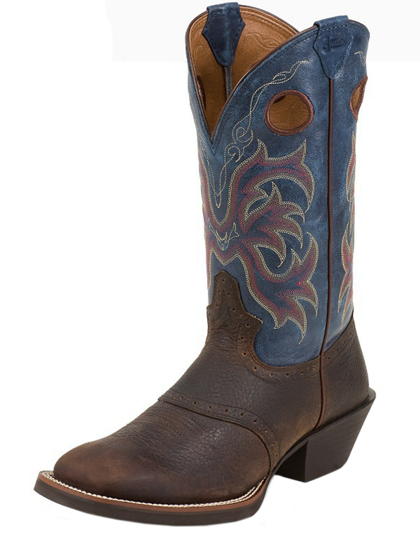 Men's Justin Rolliker Dark Brown Stampede Boots 2520