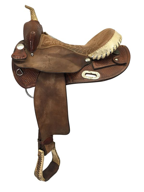 15inch Used Billy Cook 1526 Barrel Saddle usbi4247