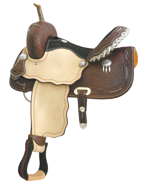 14inch 15inch Billy Cook Spotted Feather III Barrel Saddle 291206