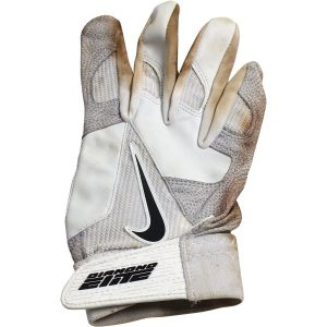 Alex Rodriguez Game Used White Nike Diamond Elite Batting Glove (Single)(3rd Party LOA)