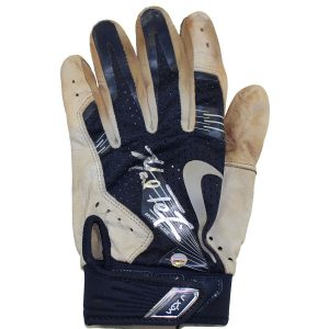 Mark Teixeira Signed 2016 Season Game Used Grey/Navy Batting Glove (Single)