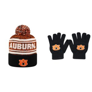 NCAA Auburn Tigers Driven Beanie Hat And TOW Knit Glove 2 Pack 39436